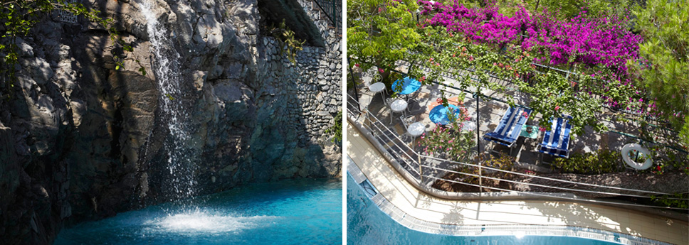 b and b con piscina a positano